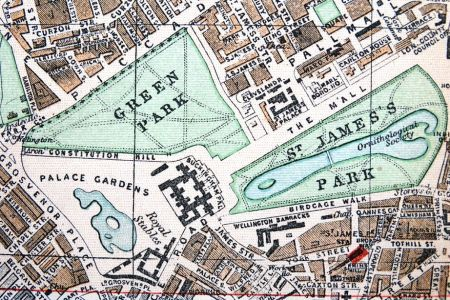 Map Oxford St - 1896 map of us